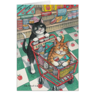 B & T #9 Shopping Note Card