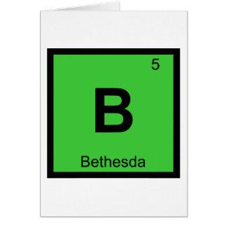 B - Tabla periódica de la química de Bethesda Tarjeta De Felicitación