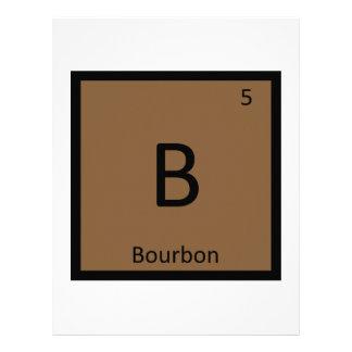 B - Tabla periódica de la química del alcohol de B Membrete A Diseño