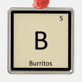 B - Tabla periódica de la química mexicana de los Adorno Cuadrado Plateado