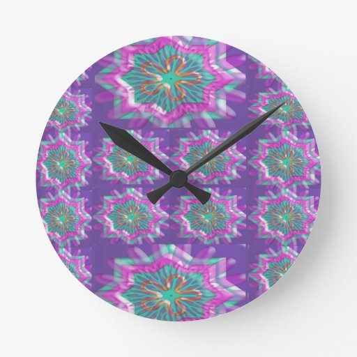 b TEMPLATE Colored easy to ADD TEXT and IMAGE gift Round Clock