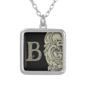 B - The Falck Alphabet (Golden) Silver Plated Necklace