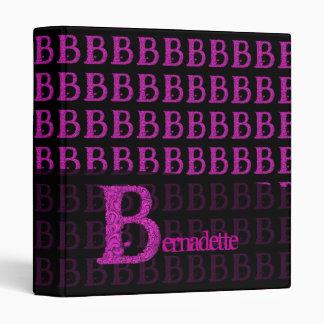 B - The Falck Alphabet Pink 3 Ring Binders
