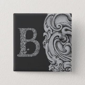 B - The Falck Alphabet (Silvery) Button