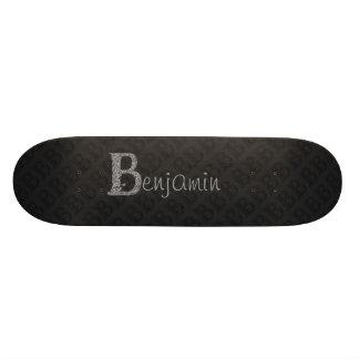 B - The Falck Alphabet (Silvery) Skate Board Deck