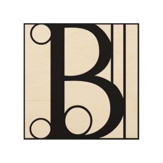 B - Typography Initial Wood Wall Art