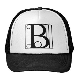 B - Typography Trucker Hat