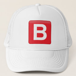 B 🅱️utton Emoji Sun Protector Trucker Hat