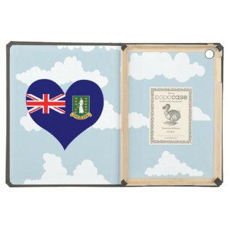 B.V. Bandera del isleño en un fondo nublado