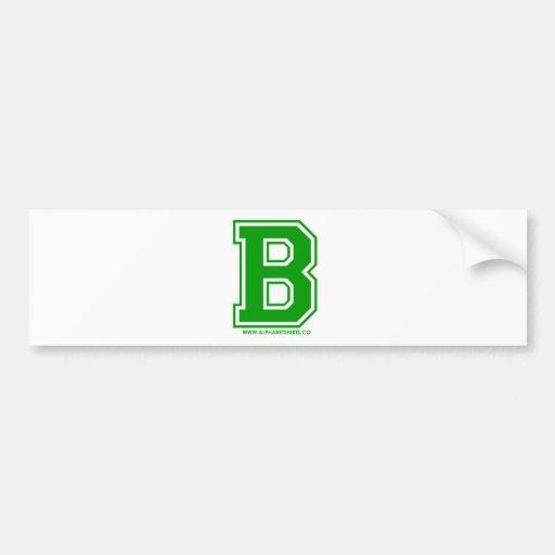 B verde pegatina para auto