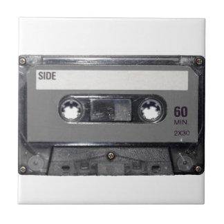 B&W 1980s Vintage Cassette Tile