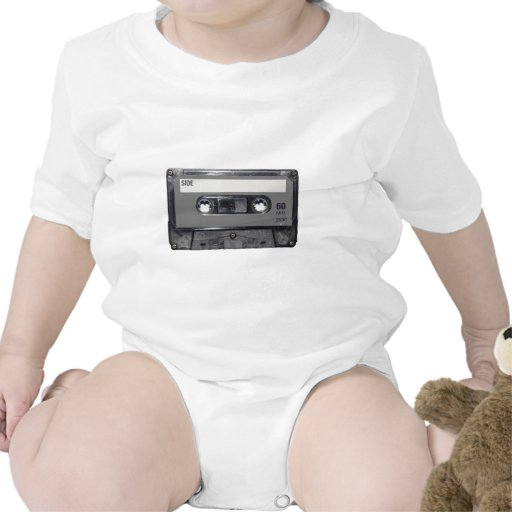 B&W 1980s Vintage Cassette Tshirts