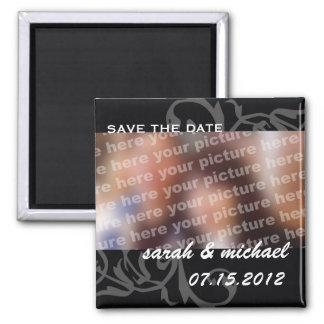 B&W ahorran la foto de la invitación del boda de l Imán Cuadrado