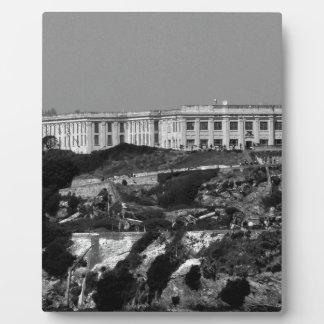 B&W Alcatraz Island Plaque