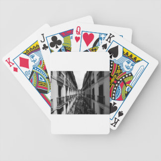 B&W Alley in Italy Bicycle Playing Cards