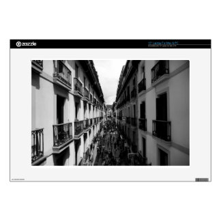 B&W Alley in Italy Laptop Decal