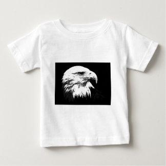 B&W American Bald Eagle Baby T-Shirt