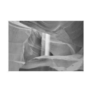 B&W Antelope Canyon 3 Canvas Print