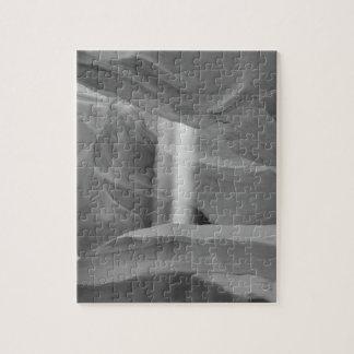B&W Antelope Canyon 3 Puzzle