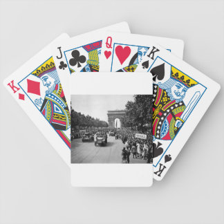 B&W Arc De Triomphe 2 Bicycle Playing Cards