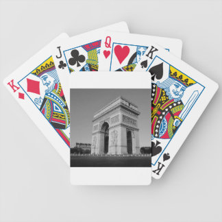B&W Arc de Triomphe 3 Bicycle Playing Cards