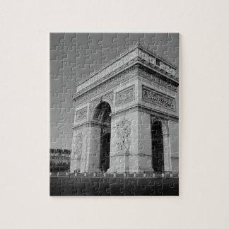 B&W Arc de Triomphe 3 Jigsaw Puzzle