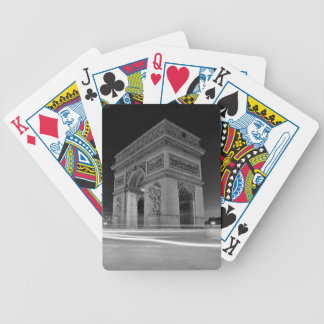 B&W Arc de Triomphe 4 Bicycle Playing Cards