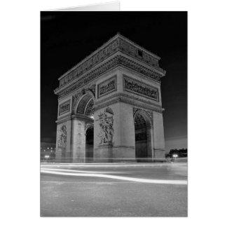 B&W Arc de Triomphe 4 Card