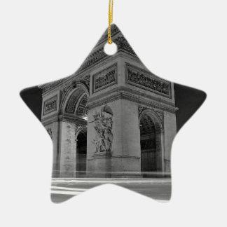 B&W Arc de Triomphe 4 Ceramic Ornament
