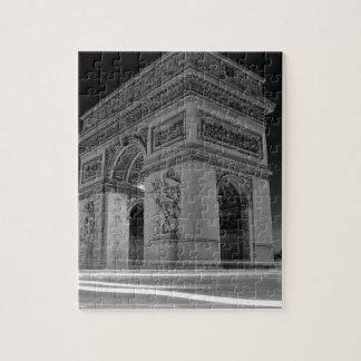 B&W Arc de Triomphe 4 Jigsaw Puzzle