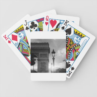 B&W Arc De Triomphe Bicycle Playing Cards