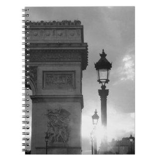B&W Arc De Triomphe Notebook