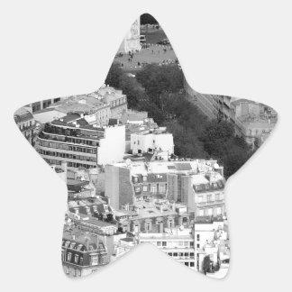 B&W Arc de Triomphe Star Sticker