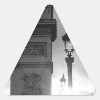 B&W Arc De Triomphe Triangle Sticker