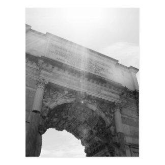 B&W Arco del Triunfo 6 Postal