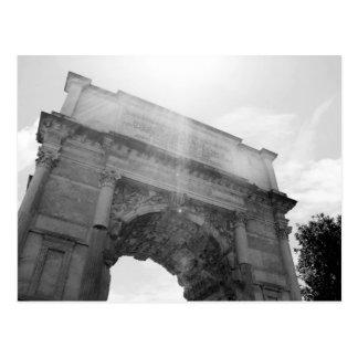 B&W Arco del Triunfo 6 Tarjeta Postal