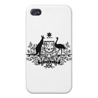 B W Australia Coat Of Arms iPhone 4 Cases