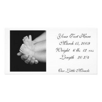B&W Babys Feet Photo Card