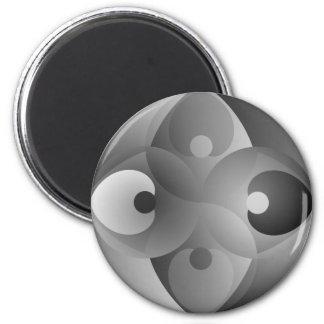 B/W Balance by Kenneth Yoncich 2 Inch Round Magnet