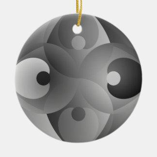 B/W Balance by Kenneth Yoncich Ceramic Ornament