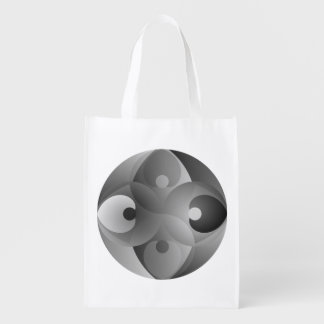 B/W Balance by Kenneth Yoncich Reusable Grocery Bag