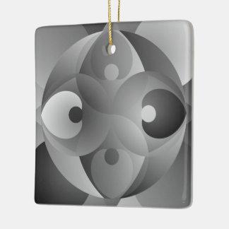 B/W Balance Ceramic Ornament