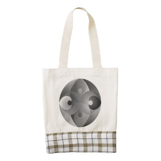B/W Balance Zazzle HEART Tote Bag