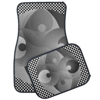 B/W Balance Floor Mat