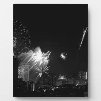 B&W Bangkok fireworks Plaque