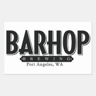 B/w Barhop sticker