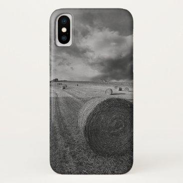 B&W Barley Field iPhone X Case