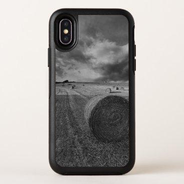 B&W Barley Field OtterBox Symmetry iPhone X Case