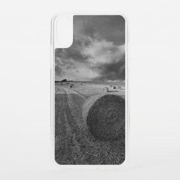B&W Barley Field iPhone XS Case
