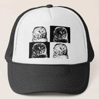 B/W Barred Owl Pop Art Trucker Hat